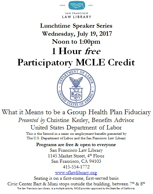 July 19 2017 Health Fiduciary MCLE Flyer