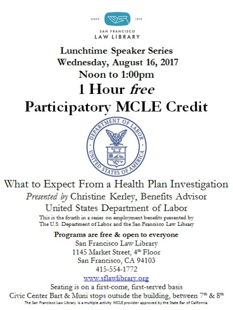 Aug 16 2017 Health Plan Investigation MCLE Flyer