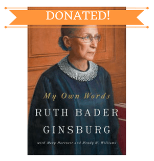 September Book Drive Donated RBG