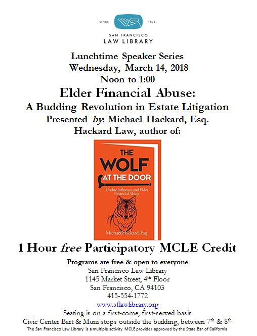Mar 14 2018 Elder Law MCLE Flyer