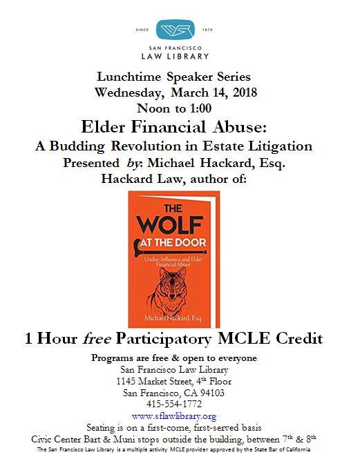 Mar 14 2018 Elder Law MCLE Flyer