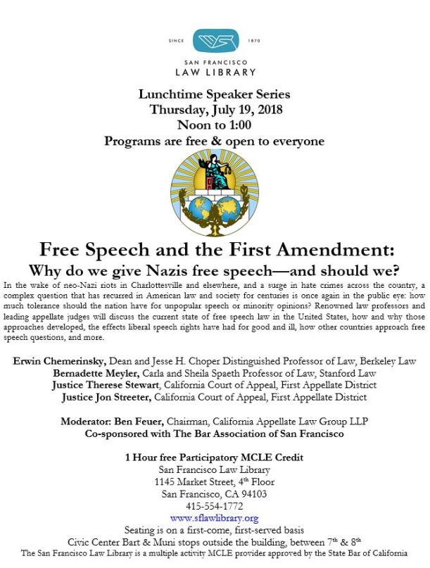 July 19 2018 Free Speech MCLE Flyer