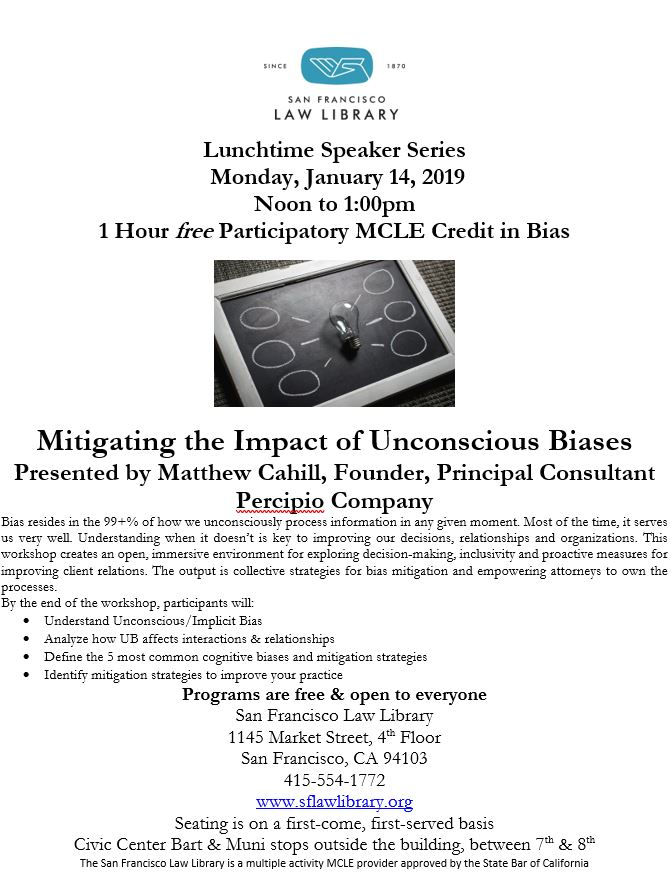 Jan 14 2019 Bias MCLE Program Flyer