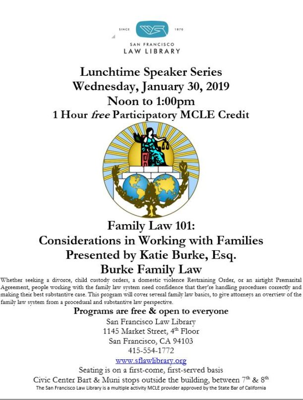 January 30 2019 Family Law MCLE Flyer